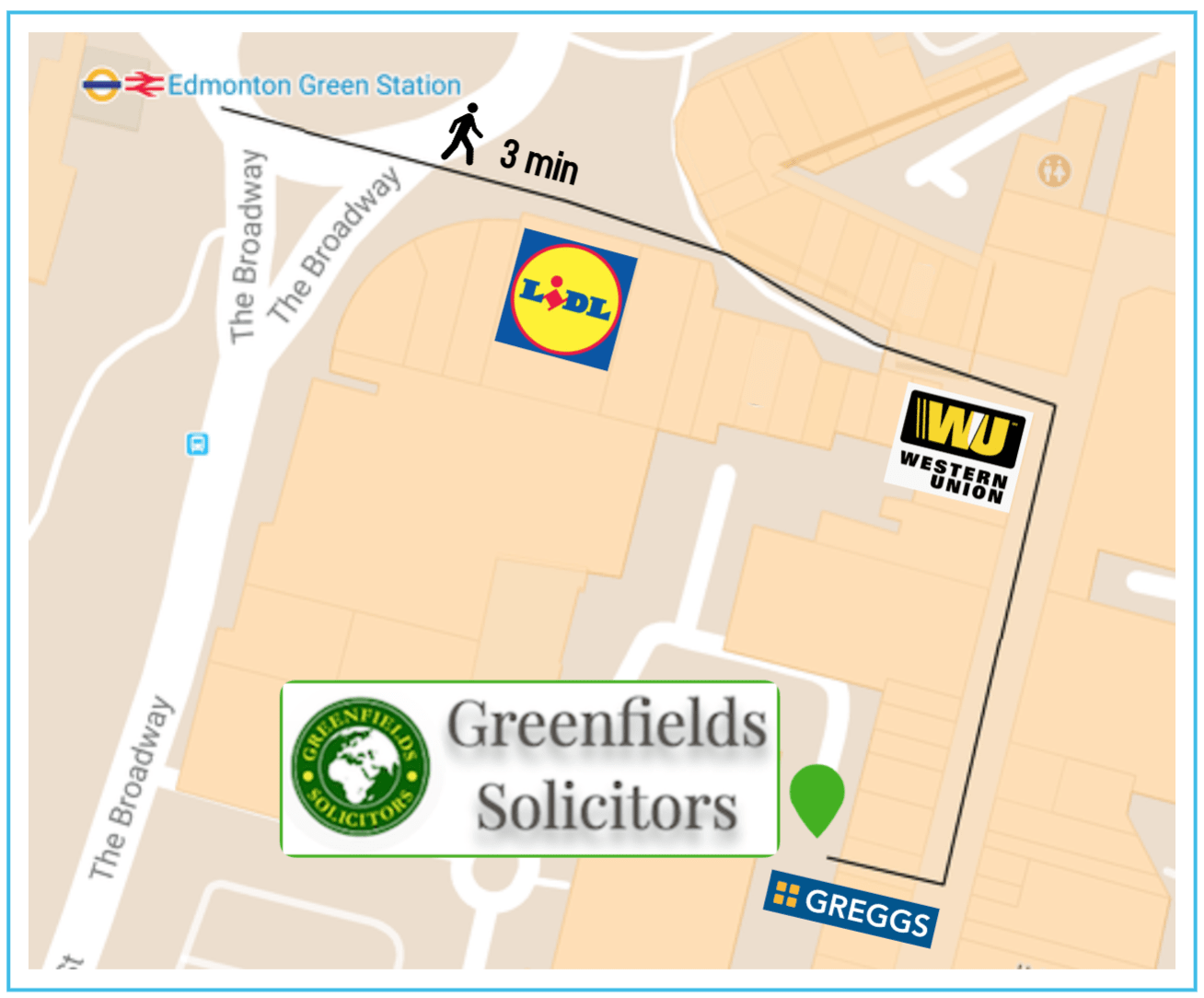 Directions to Greenfields Solicitors | Best Immigration Lawyers